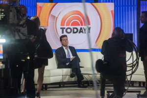 """""""I am in fact H.I.V.-positive,"""" Charlie Sheen said in an interview with Matt Lauer on NBC's """"Today"""" show. Credit Andrew Burton/Getty Images"""